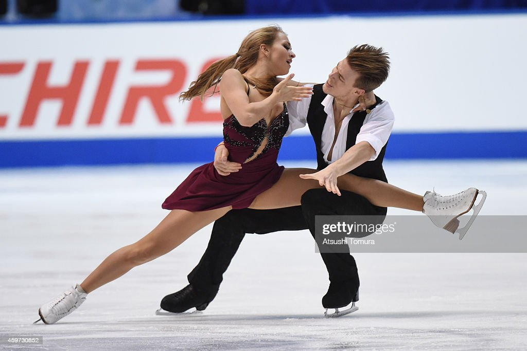 Victoria Sinitsina and Nikita Katsalapov of Russia compete in the Ice Dance Free Dance during day three of ISU Grand Prix of Figure Skating 2014/2015 NHK Trophy at the Namihaya Dome on November 30, 2014 in Osaka, Japan.