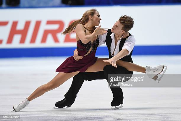Victoria Sinitsina and Nikita Katsalapov of Russia compete in the Ice Dance Free Dance during day three of ISU Grand Prix of Figure Skating 2014/2015...
