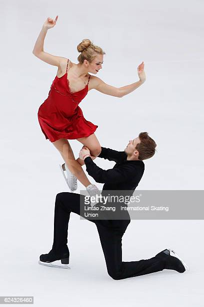 Victoria Sinitsina and Nikita Katsalapov of Russia compete in the Ice Dance Free Dance on day two of Audi Cup of China ISU Grand Prix of Figure...