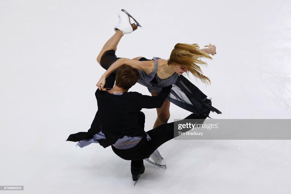 Victoria Sinitsina and Nikita Katsalapov of Russia compete in the Ice Dance Free Dance during day three of 2017 Bridgestone Skate America at Herb Brooks Arena on November 26, 2017 in Lake Placid, New York.
