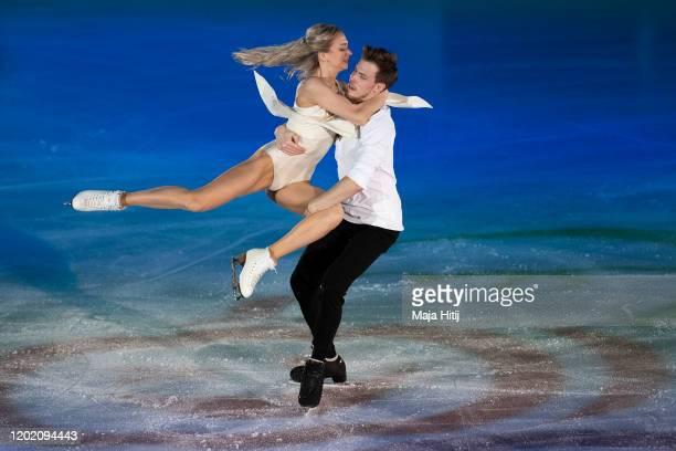 Victoria Sinitsina and Nikita Katsalapov of Russia perform during exhibition program at the ISU European Figure Skating Championships at...