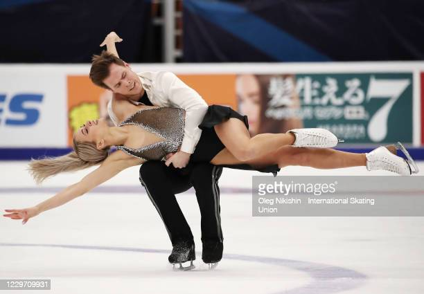 Victoria Sinitsina and Nikita Katsalapov of Russia perform in the ICE Dance Free Skating Program during day two of the ISU Grand Prix of Figure...