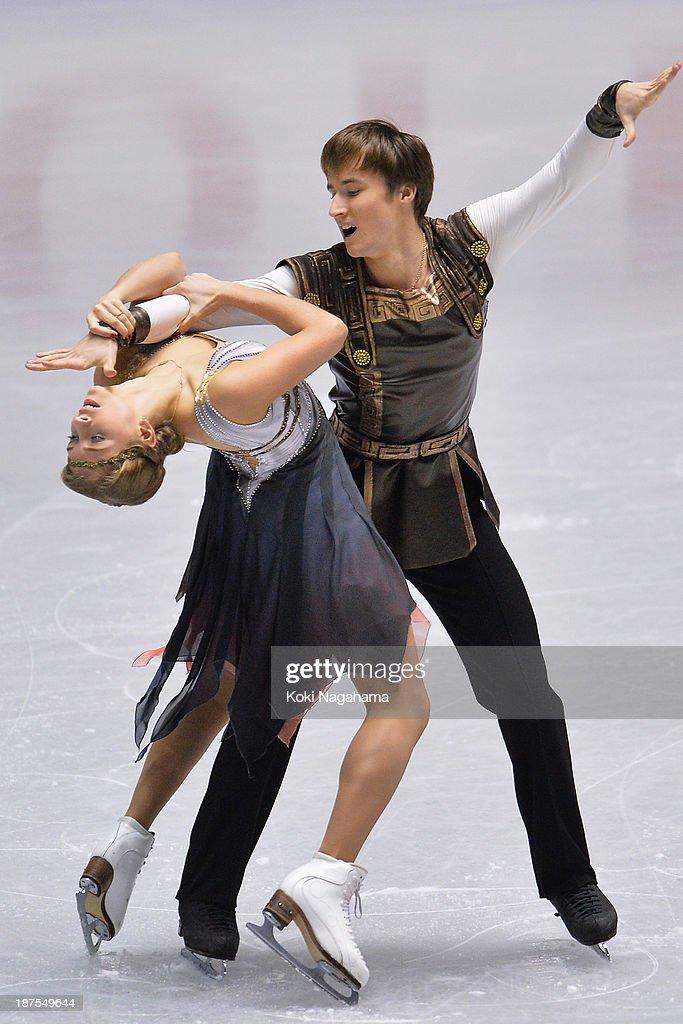 Victoria Sinitsina and Ruslan Zhiganshin of Russia compete in the Ice Dance free program during day three of ISU Grand Prix of Figure Skating 2013/2014 NHK Trophy at Yoyogi National Gymnasium on November 10, 2013 in Tokyo, Japan.