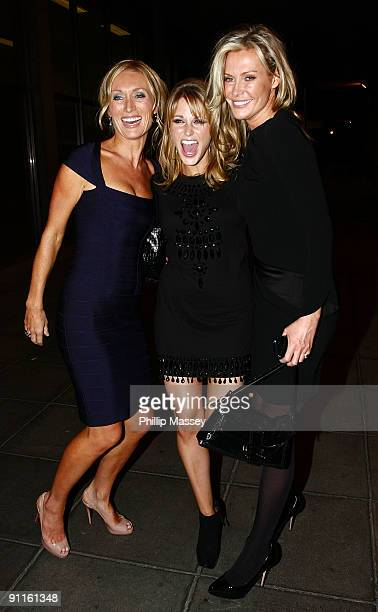 Victoria Smurfit Amy Huberman and Alison Doody are sighted at the Late Late Show Studios on September 25 2009 in Dublin Ireland