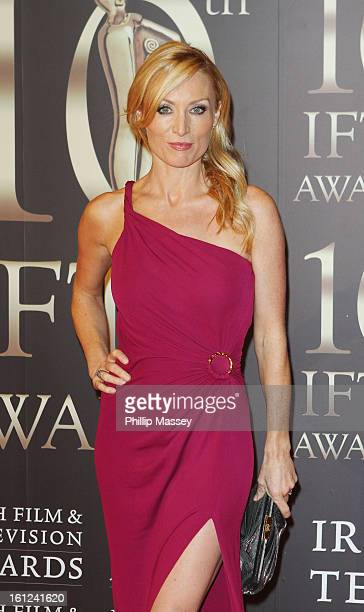 Victoria Smurfit attends the Irish Film and Television Awards at the Convention Centre Dublin on February 9 2013 in Dublin Ireland