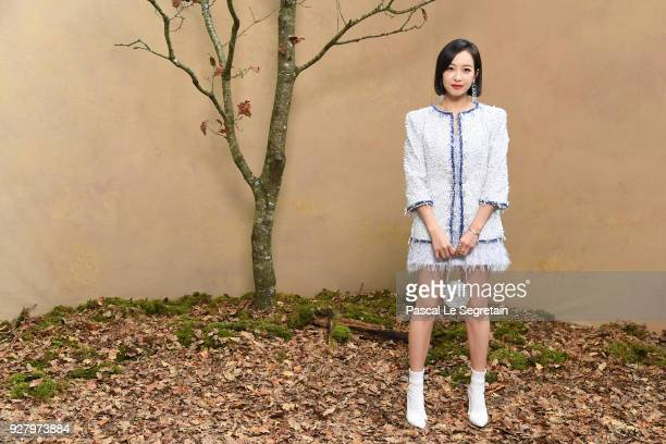 Victoria Song attends the Chanel show as part of the Paris Fashion Week Womenswear Fall/Winter 2018/2019 at Le Grand Palais on March 6 2018 in Paris...