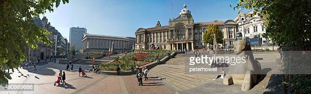 victoria square, birmingham, england. - town hall stock photos and pictures