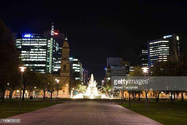 victoria square in adelaide - adelaide stock pictures, royalty-free photos & images