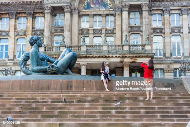 Victoria square, taking photos near The River (1993), locally known as the Floozie in the Jacuzzi by the sculptor Dhruva Mistry