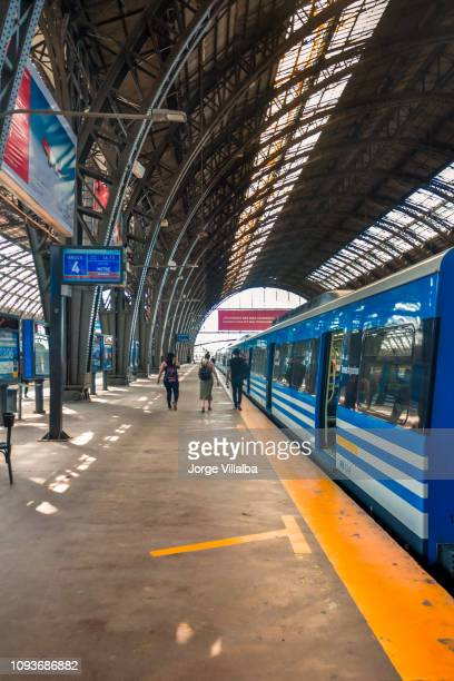 Victoria station with the Mitre train traveling to Retiro
