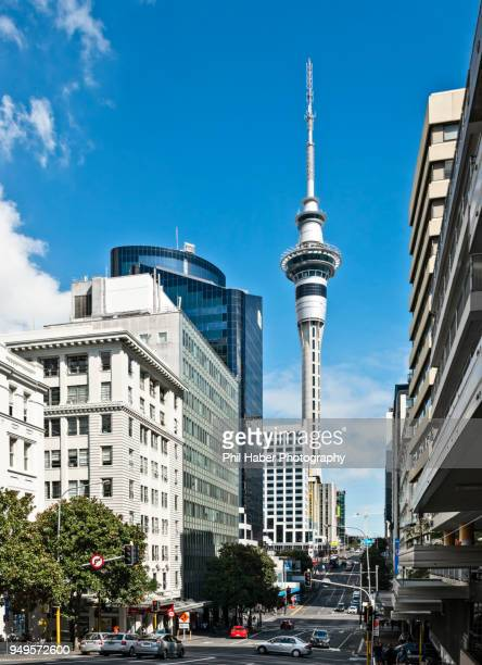 victoria street, auckland, new zealand - phil haber stock pictures, royalty-free photos & images