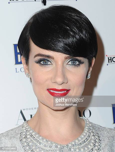 Victoria Summer arrives at BritWeek Oscar Party Celebrating Past Present And Future Oscar Winners at Hooray Henry's on February 26 2014 in West...