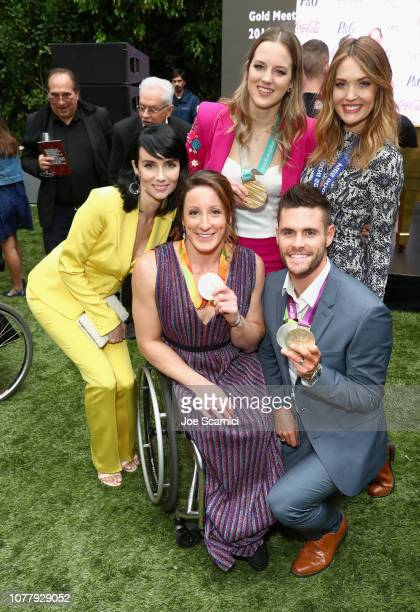 Victoria Summer Tatyana McFadden Cassie Sharpe Amy Purdy and David Boudia attend The 6th Annual 'Gold Meets Golden' Brunch hosted by Nicole Kidman...