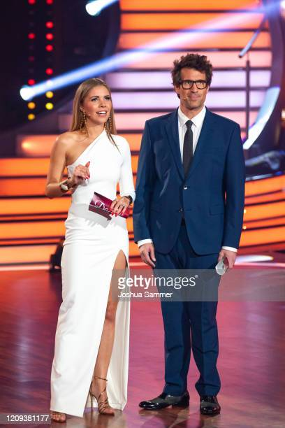 Victoria Swarovski and Daniel Hartwich on stage during the 1st show of the 13th season of the television competition Let's Dance on February 28 2020...