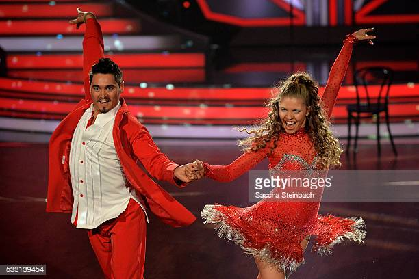 Victoria Swarovski and Erich Klann perform on stage during the 10th show of the television competition 'Let's Dance' at Coloneum on May 20 2016 in...