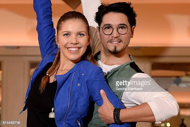 Victoria Swarovski and Erich Klann pose at a photo call for the television competition 'Let's Dance' on March 9 2016 in Cologne Germany On March 11th...
