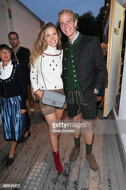 Victoria Swarovski and her fiance real estate investor Werner Muerz during the Oktoberfest 2015 at Kaeferschaenke at Theresienwiese on September 25...