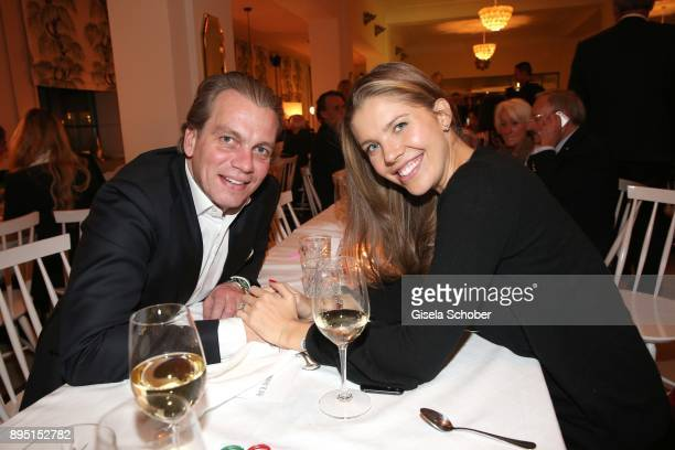 Victoria Swarovski and her husband Werner Muerz during the annual Christmas Roast Kid Dinner on December 18 2017 in Munich Germany