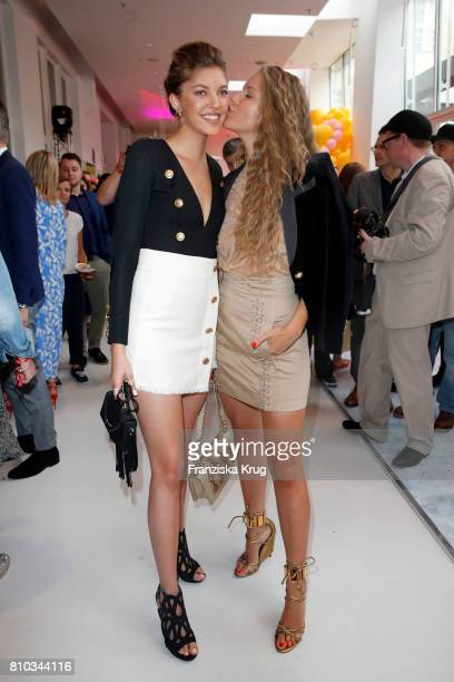 Victoria Swarovski and her sister Paulina Swarovski attend the Gala Fashion Brunch during the MercedesBenz Fashion Week Berlin Spring/Summer 2018 at...