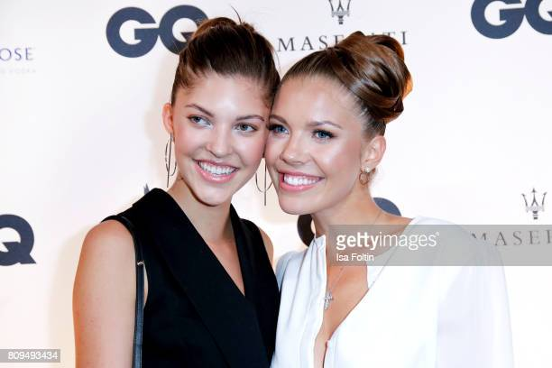 Victoria Swarovski and her sister Paulina Swarovski attends the GQ Mension Style Party 2017 at Austernbank on July 5 2017 in Berlin Germany