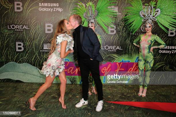 """Victoria Swarovski and Johannes B. Kerner during the Place To B Berlinale Party """"Garden of Eden"""" at Borchardt Restaurant on February 22, 2020 in..."""