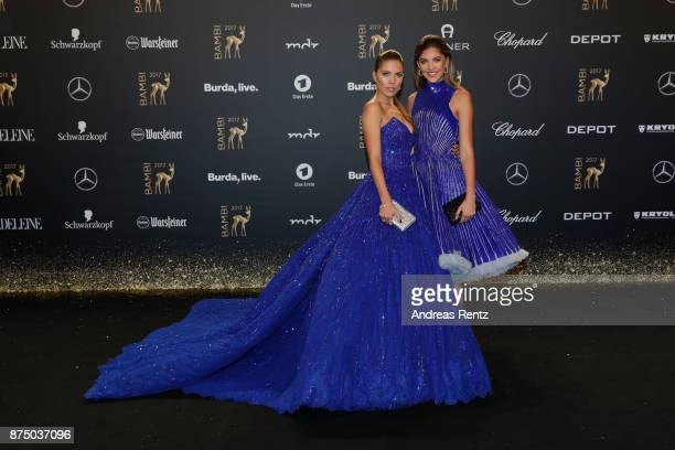Victoria Swarovski and Paulina Swarovski arrive at the Bambi Awards 2017 at Stage Theater on November 16 2017 in Berlin Germany