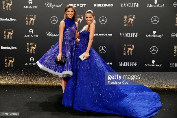 Victoria Swarovski and Paulina Swarovski arrive at the Bambi Awards 2017 at Stage Theater on November 16 2017 in Berlin Germany