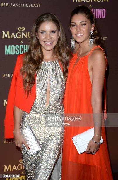 Victoria Swarovski and Paulina Swarovski attend the Magnum party during the 70th annual Cannes Film Festival at Magnum Beach on May 18 2017 in Cannes...