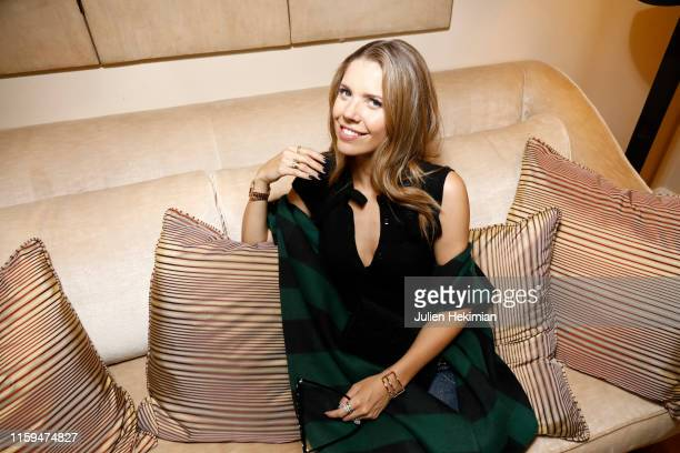 Victoria Swarovski attends the Schiaparelli Cocktail to celebrate Daniel Roseberry first Haute Couture Collection as part of Paris Fashion Week on...