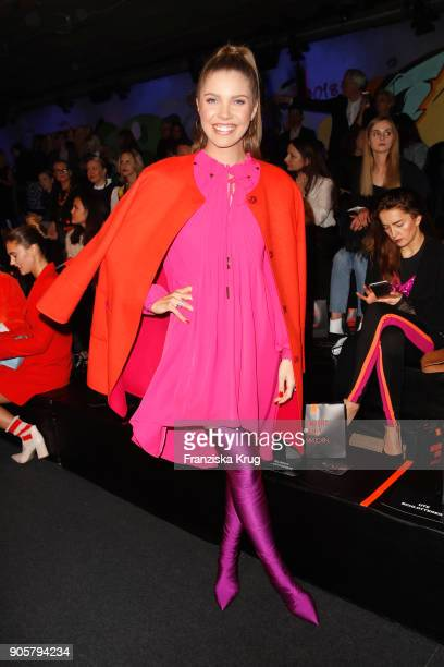Victoria Swarovski during the Marc Cain Fashion Show Berlin Autumn/Winter 2018 at metro station Potsdamer Platz on January 16 2018 in Berlin Germany