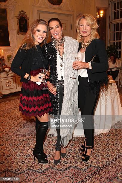 Victoria Swarovski Fiona Swarovski and her mother Marina Swarovski during the Chanel Metiers d'Art Collection 2014/15 ParisSalzburg on December 2...