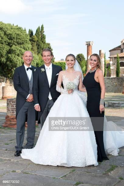 Victoria Swarovski And Werner Muerz Get Married In Trieste Stock