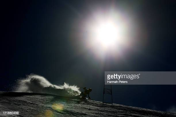 Victoria Taylor of New Zealand competes in the Womens Giant Slalom during day 11 of the Winter Games NZ at Coronet Peak on August 23 2011 in...