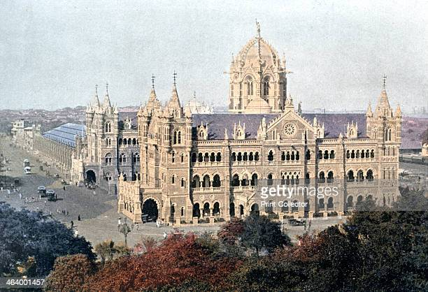 Victoria Terminus Bombay India late 19th century Illustration from Inde Anglaise Sites et Paysages