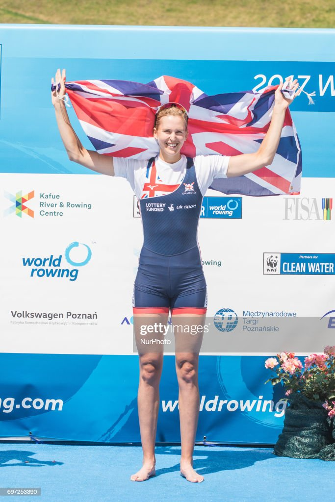 Victoria Thornley (GBR) W1x during the final day of the 2017 World Rowing World Cup in Poznan, Poland, on 18 June 2017.