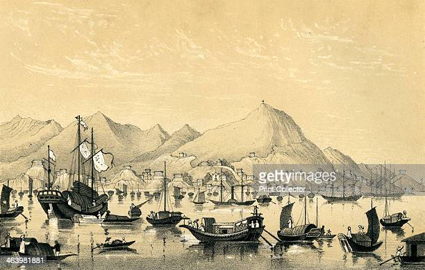 'Victoria Town Hong Kong Island' 1847 Victoria City one of the first urban settlements after Hong Kong became a British colony in 1842 was often said...