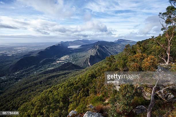 Victoria Valley and Lake Bellfield, Grampians National Park, Victoria, Australia