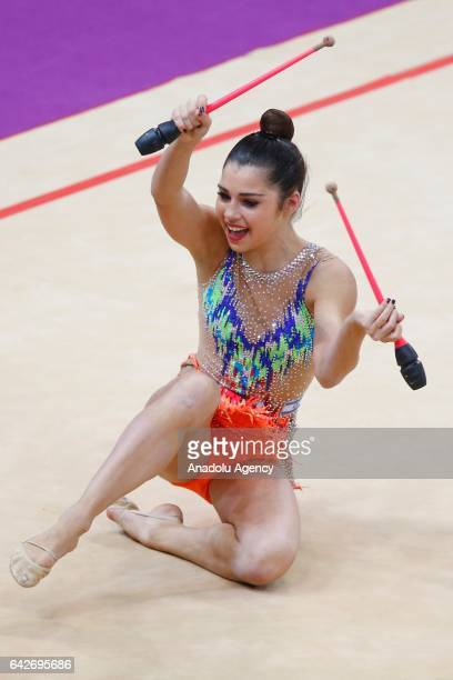 Victoria Veinberg Filanovsky of Israel performs during the International Rhythmic Gymnastics Championship at the Alina Cup Grand Prix 2017 event in...
