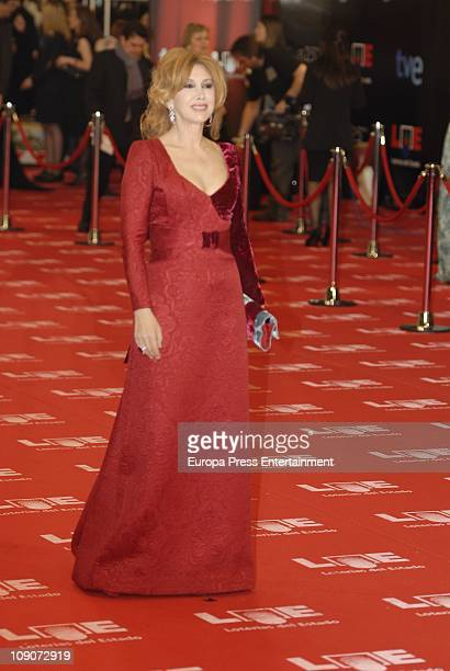 Victoria Vera arrives to the 2011 edition of the 'Goya Cinema Awards' ceremony at Teatro Real on February 13 2011 in Madrid Spain