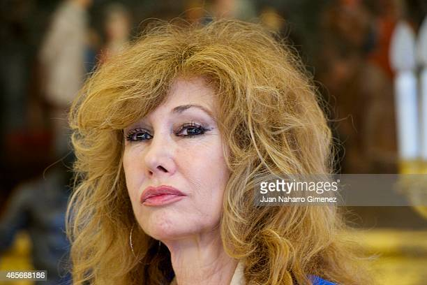 Victoria Vera attends delivery of the National Award Sociology and Political Science 2014 at Zarzuela Palace on March 9 2015 in Madrid Spain