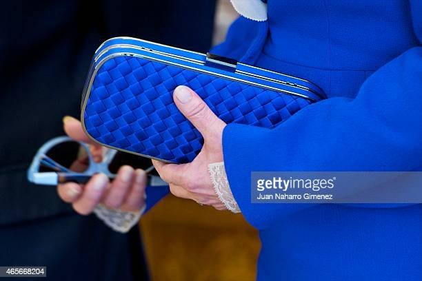 Victoria Vera handbag detail attends delivery of the National Award Sociology and Political Science 2014 at Zarzuela Palace on March 9 2015 in Madrid...