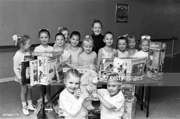 Victoria Wade school of dancing Almondbury bought £100 with of toys for the examiner Christmas toy appeal 16th December 1991