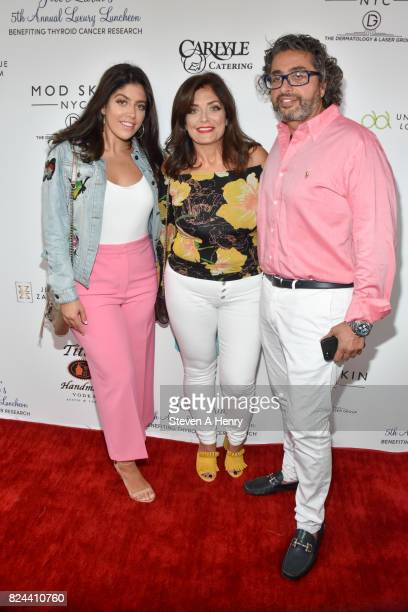 Victoria Wakile Kathy Wakile and Richie Wakile attend Jill Zarin's 5th Annual Luxury Luncheon at Private Residence on July 29 2017 in Southampton New...