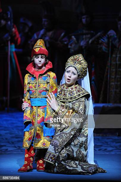 Victoria Yastrebova and Misha Goodman perform with Artists of the company in the Mariinsky Opera's production of Nikolai RimskyKorsakov's The Tale of...