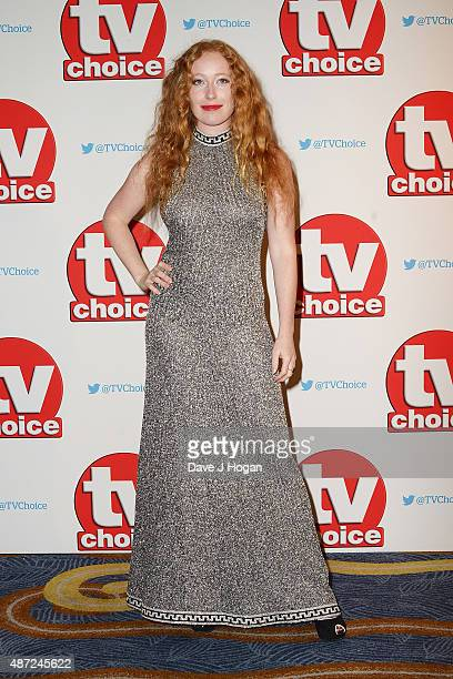 Victoria Yeates attends the TV Choice Awards 2015 at Hilton Park Lane on September 7 2015 in London England