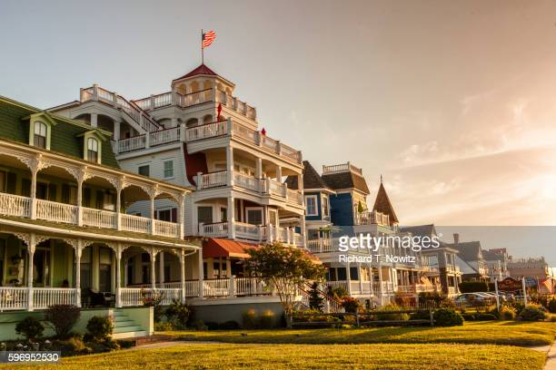 victorian architecture - cape may stock pictures, royalty-free photos & images