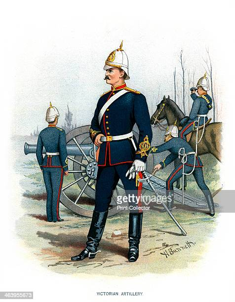'Victorian Artillery' c1890 A coloured lithographic plate from Her Majesty's Army Indian and Colonial Forces by Walter Richards JS Virtue Company
