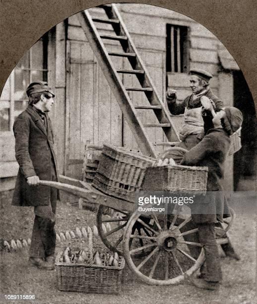 Victorian cart vendor for workmen United Kingdom 1890