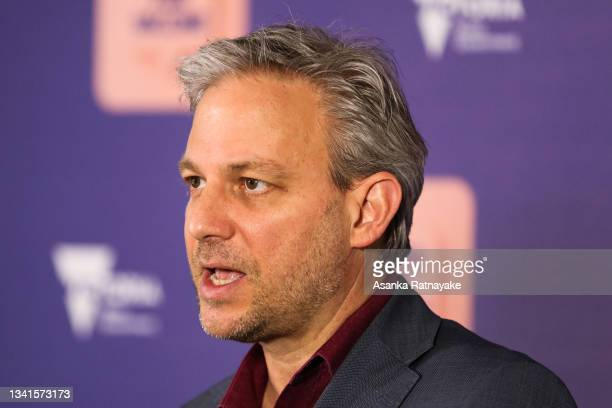 Victorian Chief Health Officer, Brett Sutton speaks during a press conference on September 21, 2021 in Melbourne, Australia. Victoria has recorded...