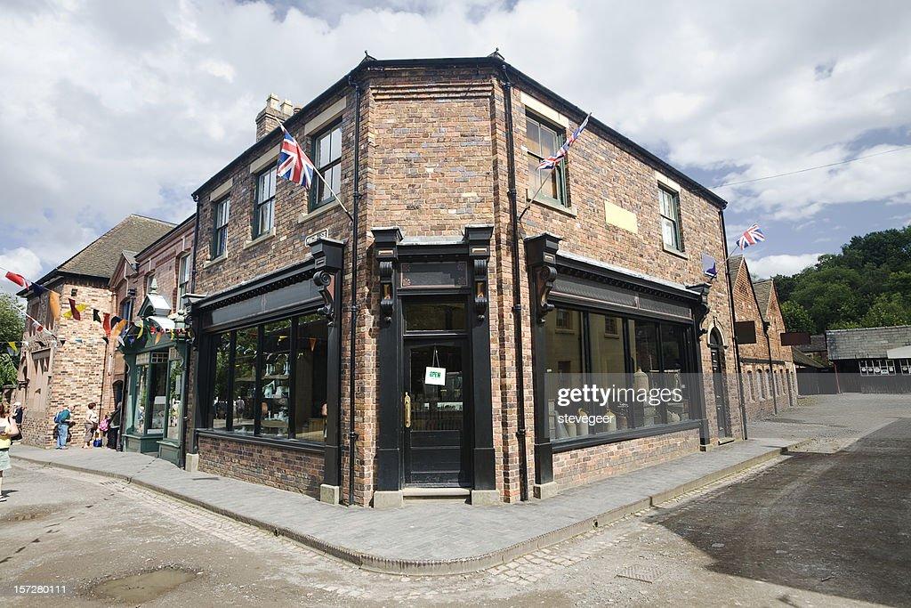Victorian Corner Shop : Stock Photo